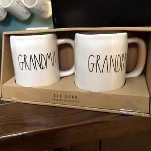 Rae Dunn Grandpa and Grandma Mugs